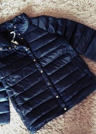 Стильный пуховик куртка натуральный пух перо оверсайз