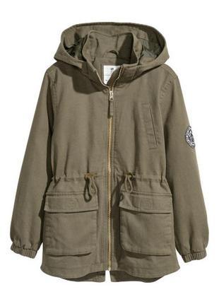 Лёгкая куртка парка с капюшоном, h&m