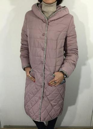 Куртка женская батал пудра удлиненная/демисезонная куртка/есть размеры