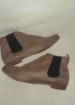 36-37 р./23,5 cм. фирменные демисезонные ботинки/челси