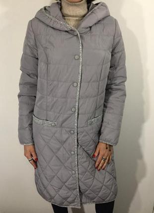 Куртка женская батал серая удлиненная/демисезонная куртка/есть размеры