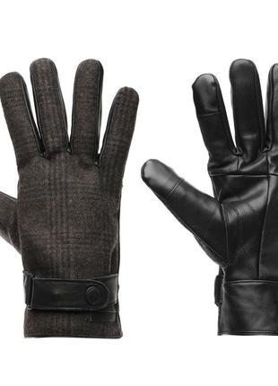 Перчатки мужские pierre cardin. оригинал. натуральная кожа с кашемиром. кожаные, сенсорные
