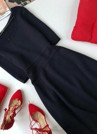 Эксклюзивное платье миди 100% шерсть мериноса hobbs