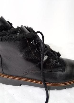 Кожаные зимние ботинки rieker (рикер), 37р,стелька24см, хорошее состояние