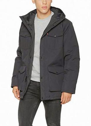 Зимняя куртка levi's мужской пуховик парка оригинал levis down jacket