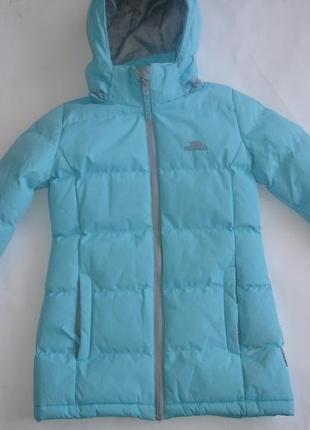 Фирменная trespass теплая удлиненная куртка пальто девочке 2-3 лет идеал