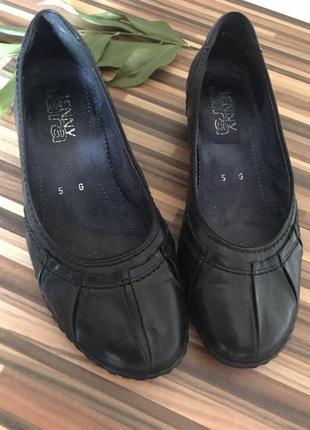 Туфли женские, балетки кожаные