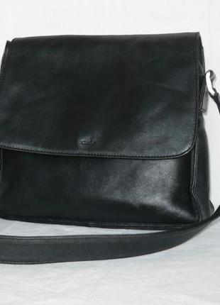 Boxca кожаная вместительная сумка почтальон длинная ручка