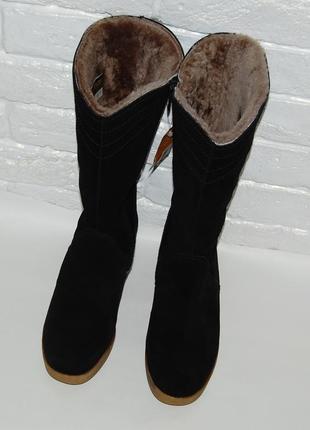 Полу сапоги ботинки зимние немецкие цегейка кожа замш 38-39 р-р