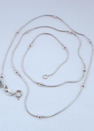 Серебряная цепь 925 проба, 50 см.
