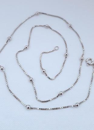 Цепь серебро 925 проба покрытие родий, 50 см.