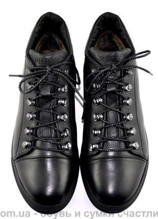 Стильные кожаные зимние ботинки 40 41 42 43 44