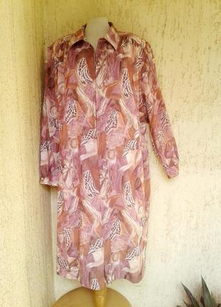 Теплое платье-халат, 4xl.