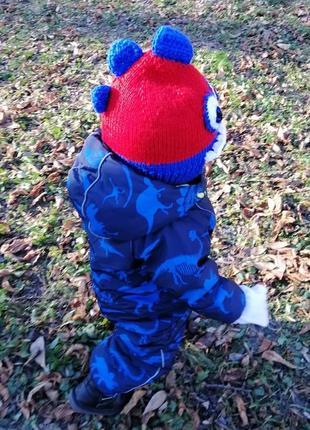 Авторская шапочка - шлем для мальчика дракоша