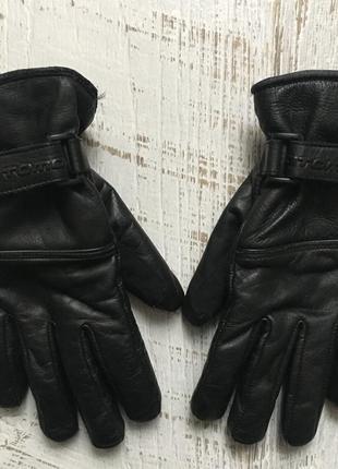 Кожаные перчатки на флисе размер указан 4