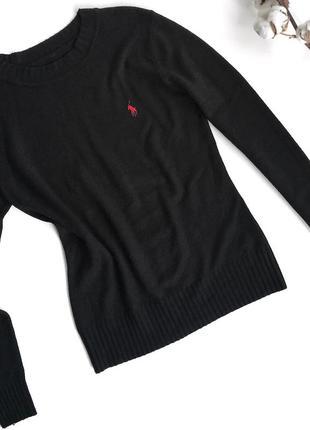 Черный кашемировый свитер ralph lauren