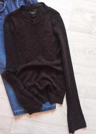Свитер с расклешенными рукавами zara knit