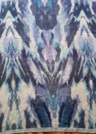 Шёлковый платок из натур.шёлка,шов роуль,90*86.