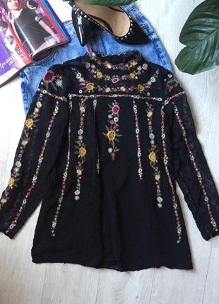 Очень красивая блуза zara с вышивкой