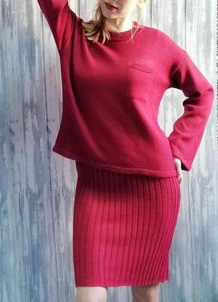 Теплый костюм платье и кофта