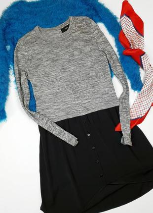 Платье свитер рубашка миди