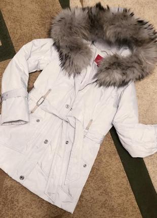 Зимова подовжена куртка, пуховик, плащ