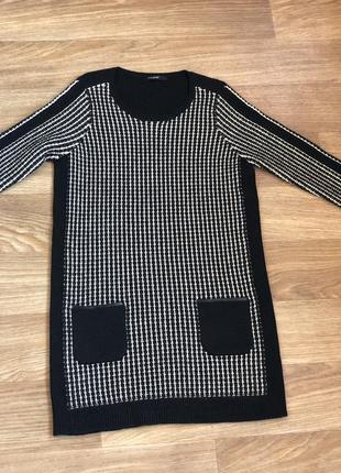 Шерстяное платье с карманами