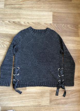 Серый свитер люрекс