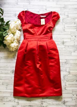 Распродажа! шикарное красное платье!! lk bennet юбка держит форму размер 10 44-46