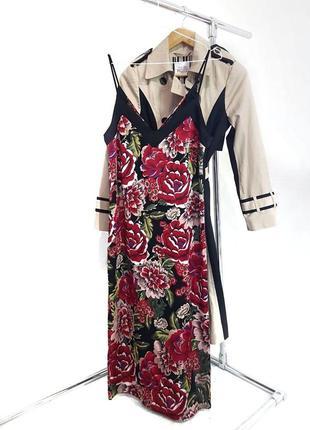 Миди платье в бельевом стиле в цветы