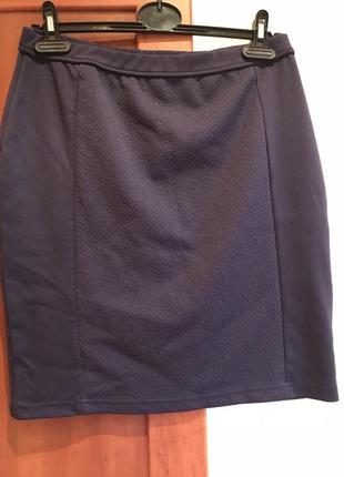 Женственная юбочка чернильного цвета