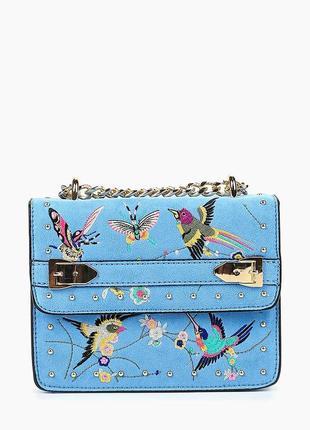 Нереально крутая сумочка под замшу topshop