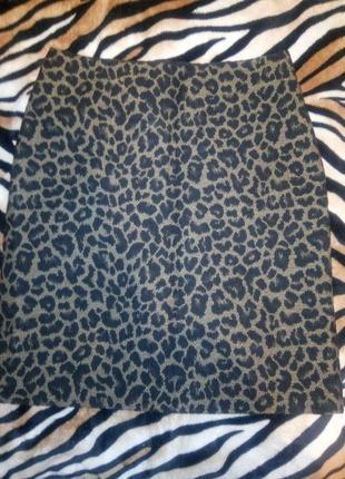 Юбка миди леопардовая новая  marks s spencer
