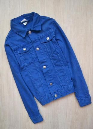 Синяя джинсовка джинсовая куртка 152 11-12 лет