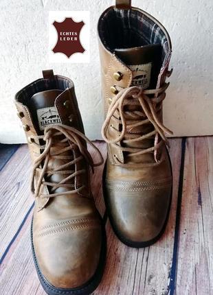 Мужские ботинки blackwell из натуральной кожи - 45 р.