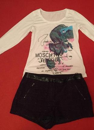 Стильный комплект шорты и джемпер moschino