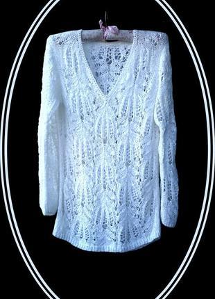Ажурный свитер(джемпер,кофта)