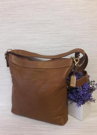 Кожаная женская сумка coach