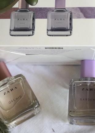 Духи в наборе zara /парфюм /туалетная вода /orchid/gardenia
