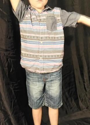 2591/0 детские джинсовые шорты f&f 4-5 лет