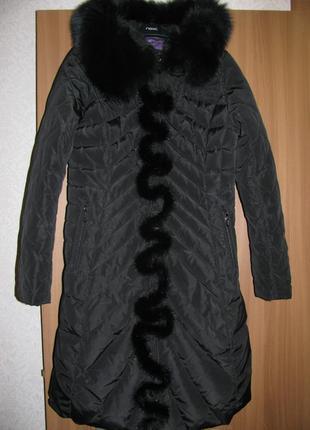 Зимнее пуховое  пальто пуховик с капюшоном