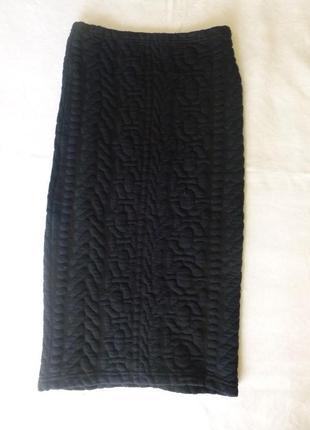 1+1=3 теплая фактурная юбка карандаш на хрупкую девушку topshop