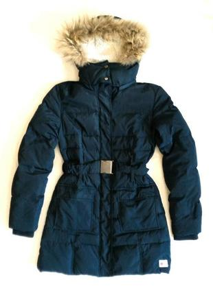 Фирменное теплое зимнее пальто/парка/пуховик с натуральным пухом. mr520.