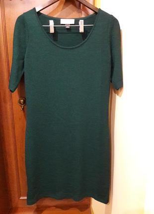 Платье миди,шерсть изумрудного цвета st.john.m-l