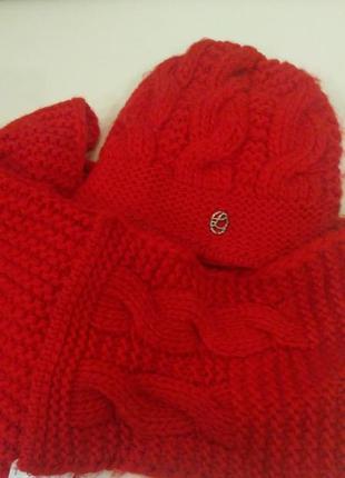 Очень теплая шапка и шарф польша.