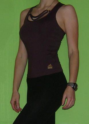 Майка спортивна борцовка темно-фіолетова adidas techfit, розмір xs|s