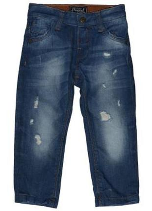 Новые джинсы с потертостями для мальчика, mayoral, 1200
