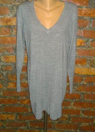 Удлиненный пуловер джемпер свитер debenhams