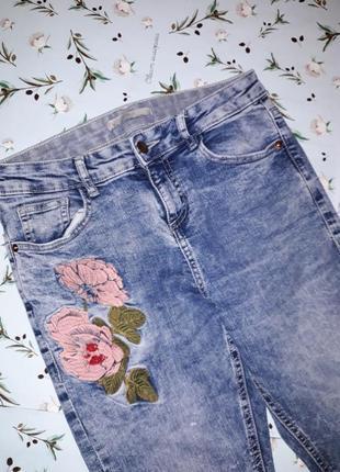 Акция 1+1=3 трендовые джинсы george, узкие высокие скинни с вышивкой, размер 44 - 46