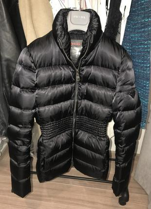 Prada оригинал брендовая пуховая курточка прада
